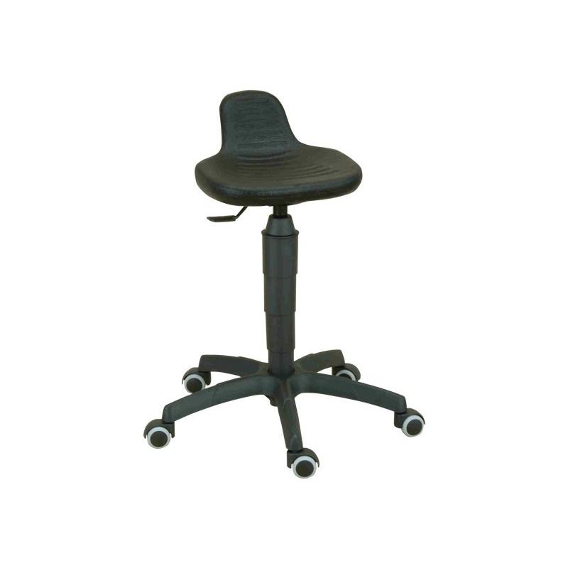 5099 Pojízdná stolička s anatomickým sedákem.