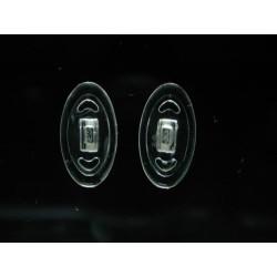 6411 Silikonová sedýlka oválná 13,0 mm, Primadonna 100 párů